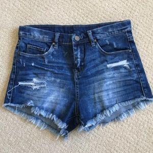 Cut off jean shorts. Size 14